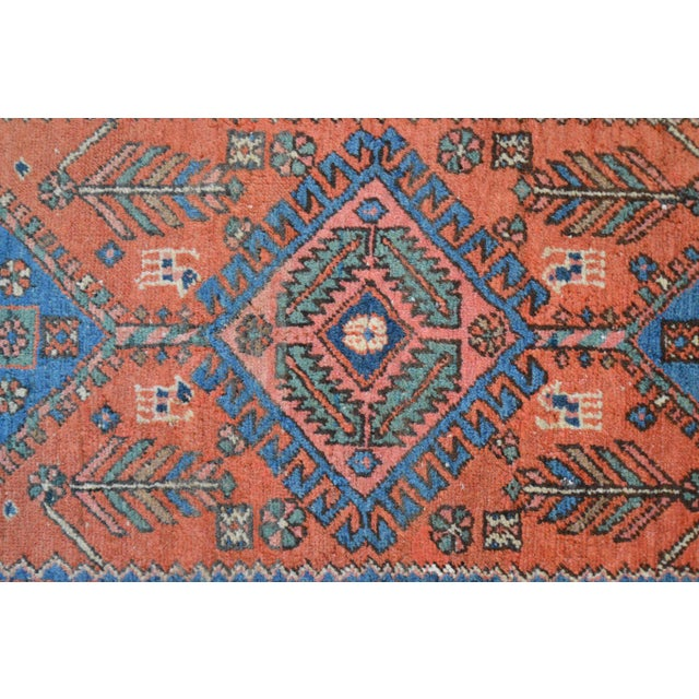 "Antique Persian Heriz Rug - 3' x 5'7"" - Image 7 of 11"