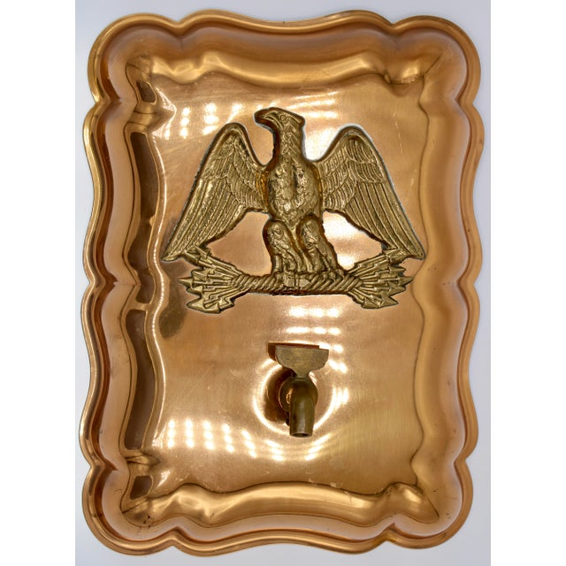 Metal Vintage Federal Eagle Copper Mold Wall Mount For Sale - Image 7 of 12