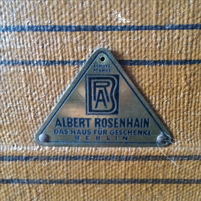 Leather Steamer Trunk by Albert Rosenhain - Image 7 of 11