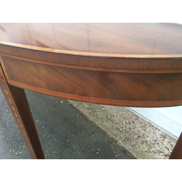 Kittinger Mid-Century Demilune Console Table - Image 4 of 11
