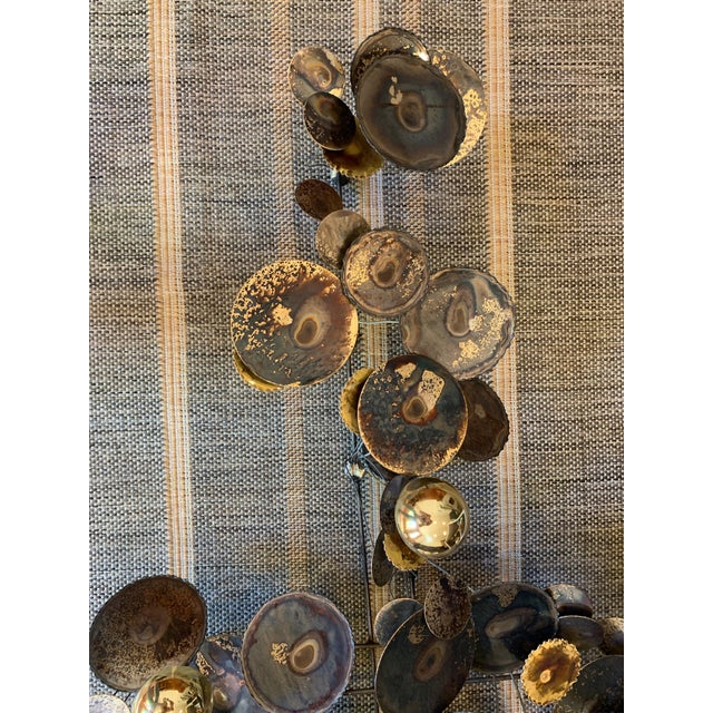 Abstract 1990s C. Jere Raindrops Brass Wall Sculpture For Sale - Image 3 of 8
