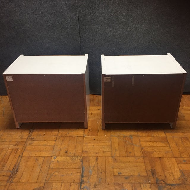 Brown Barzilay Solid Wood Drawer Nightstands - Pair For Sale - Image 8 of 10