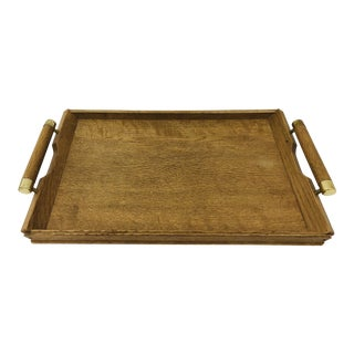 Vintage Wooden Bar Tray For Sale