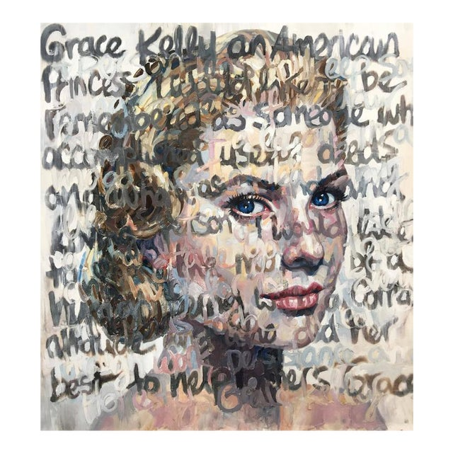 """Grace Kelly"" Oil on Canvas Painting - Image 1 of 7"