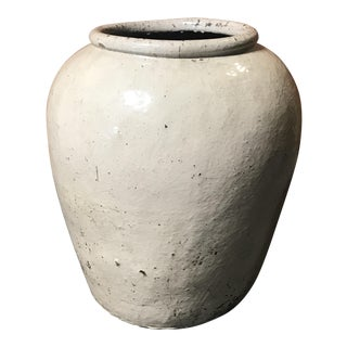 Large Neutral Glaze Ceramic Pot