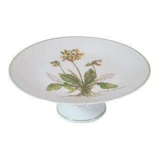 Floral Pastry Pedestal Dish For Sale
