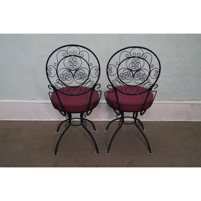 5-Piece Scrolled Iron Bistro Dining Set - Image 4 of 10