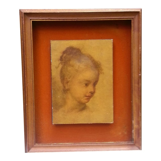 "Rosalba Carriera ""Head of a Child"" Pastel Drawing For Sale"