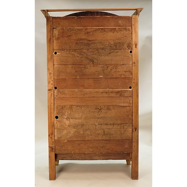 19th Century Italian Painted Armoire Bookcase For Sale - Image 4 of 5