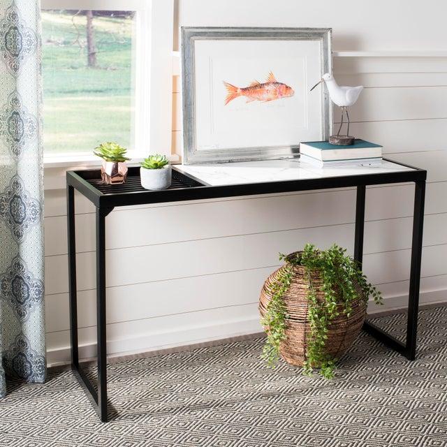 Robinson Console Table White Black Chairish
