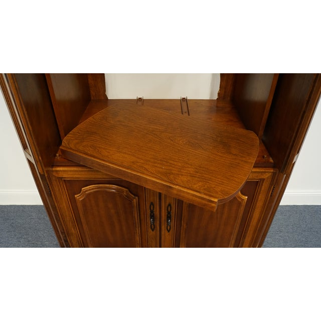 "Late 20th Century Vintage Italian Provincial Cherry 41"" Entertainment Cabinet/Media Armoire For Sale - Image 5 of 13"