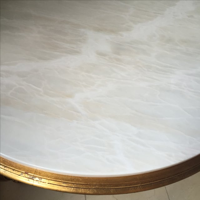 Italian Gold & Marble Coffee Table - Image 5 of 11