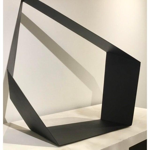 2010s Baker Modern Black Metal Geometric Sculpture For Sale - Image 5 of 7