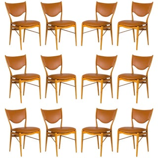 Set of 12 Finn Juhl BO-63 Dining Chairs