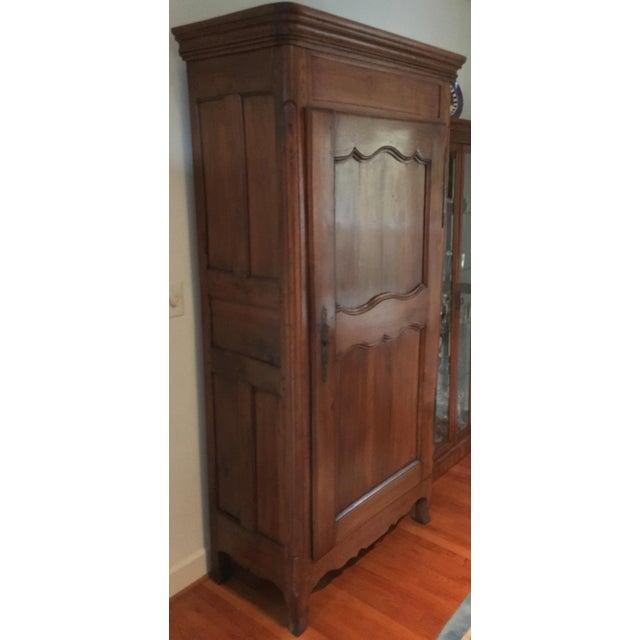 louis xv walnut bonnetiere armoire chairish. Black Bedroom Furniture Sets. Home Design Ideas