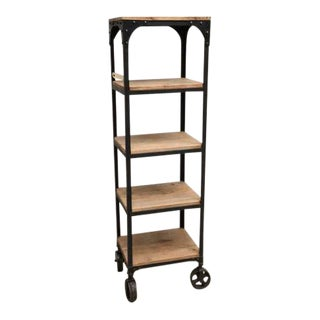 Industrial Riveted Steel Etagere For Sale