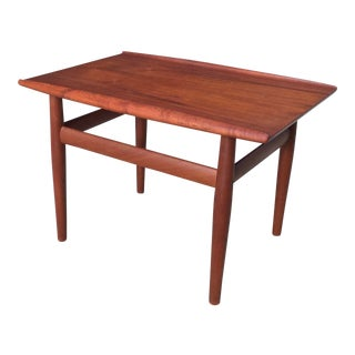 Vintage 1960s Danish Modern Grete Jalk for Glostrup Teak Side Table For Sale