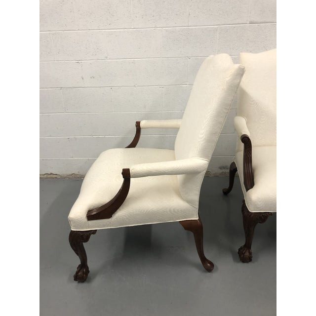Ball & Claw Mahogany Library Chairs by Councill - a Pair For Sale In Richmond - Image 6 of 12