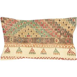 "1960s Turkish Cicim Pillow 12"" X 23"" For Sale"