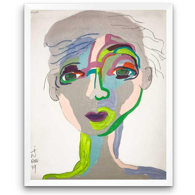 This abstract portrait is by contemporary artist Linda Ward of Detroit. This portrait is #290 out of a series of 500...