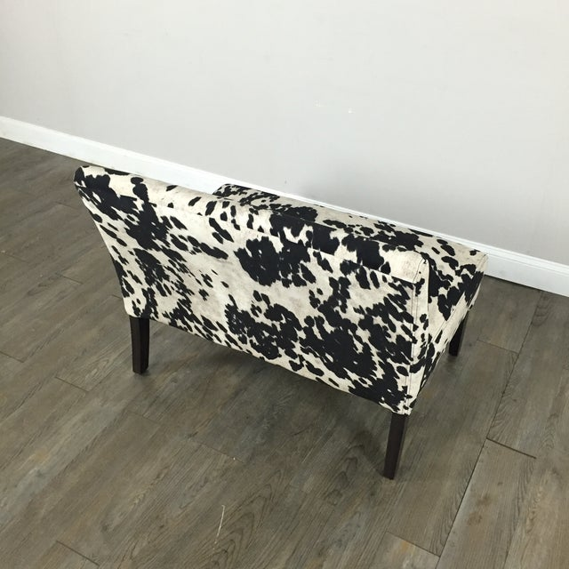 Black & White Cowhide Loveseat - Image 10 of 11