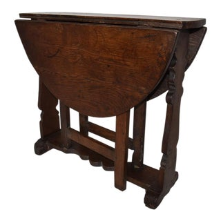 18th Century English Gateleg Side Table For Sale
