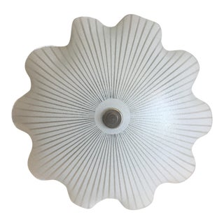 Ruffled Glass Ceiling Light