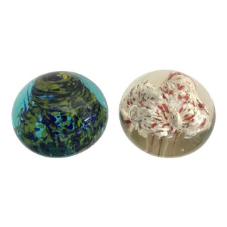 Italian Murano Paper Weights - Set of 2 For Sale