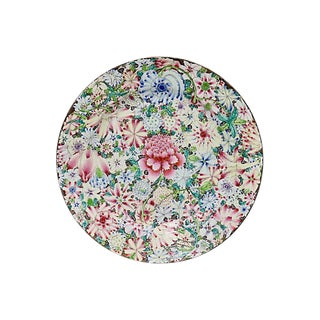 Antique Chinese Export Floral Plate For Sale
