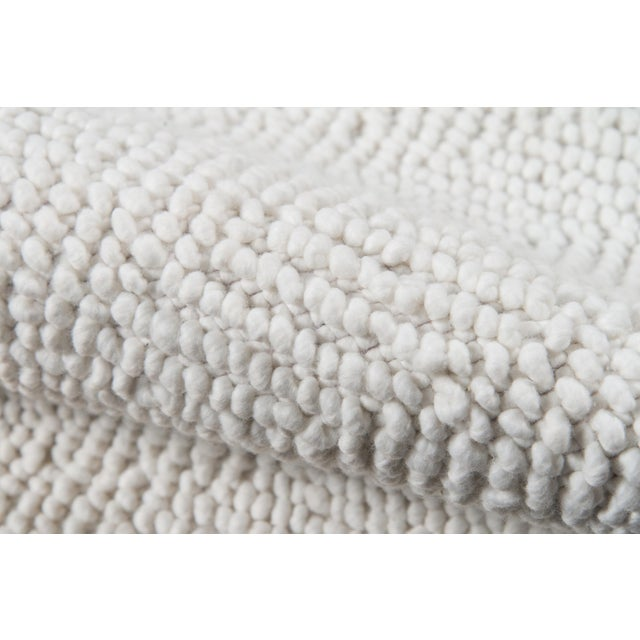 """Contemporary Erin Gates by Momeni Ledgebrook Washington Ivory Runner Hand Woven Area Rug - 2'3"""" X 8' For Sale - Image 3 of 6"""
