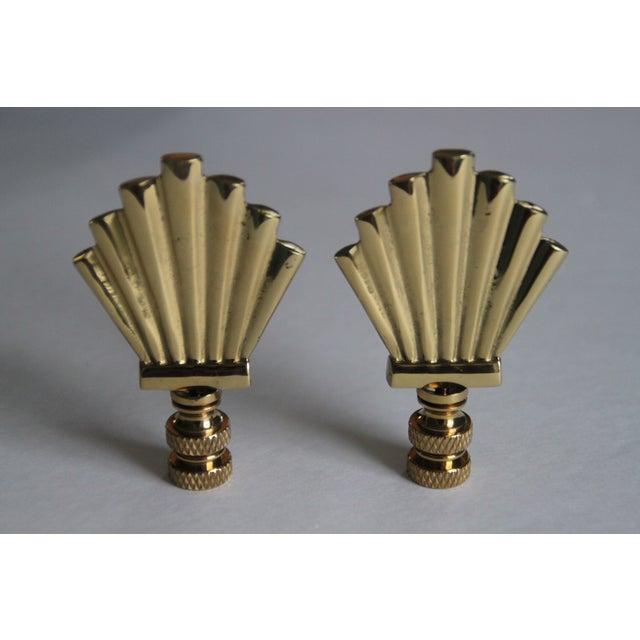 Brass Art-Deco Style Fan Finials - A Pair - Image 2 of 3