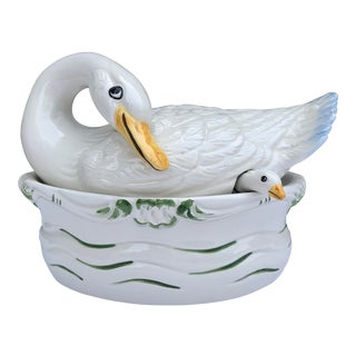 Vintage Italian Ceramic Nora Fenton Duck Tureen - Set of 3 For Sale