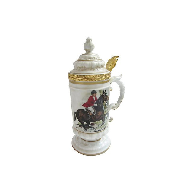Ceramic Italian Equestrian Beer Stein For Sale - Image 7 of 7