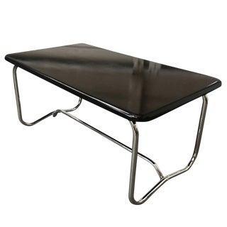 Wolfgang Hoffmann Style Art Deco Chrome & Micarta Coffee Table For Sale
