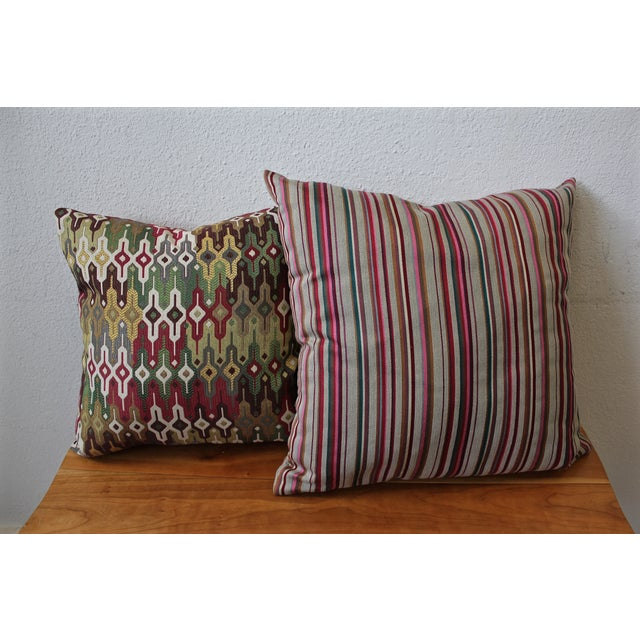 Contemporary Striped Pillow - Image 4 of 4