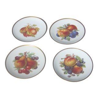 Vintage 1930's Bavarian German Hand Painted Dessert or Salad Plates - Set of 4