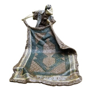 Antique Cast Iron Carpet Seller Door Stopper For Sale
