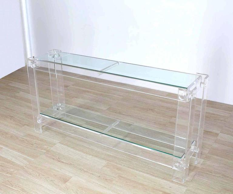 Three Tier Long Lucite Console Table   Image 8 Of 10