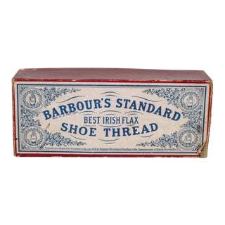 19th C. Shoe Thread Box and Spools C.1878 For Sale