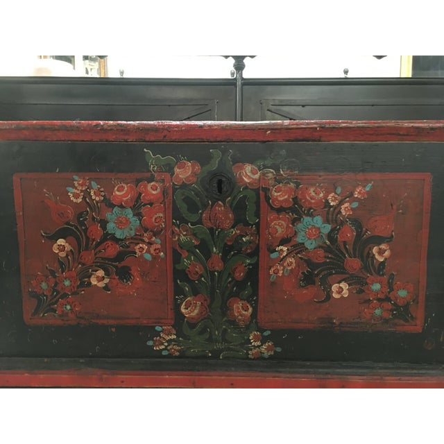 19th Century Painted Pine Chest For Sale - Image 4 of 9