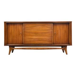 "Kent Coffey ""Insignia"" Walnut Credenza Dresser For Sale"