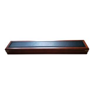 Gentleman's Dresser Organizer Wood & Leather Box