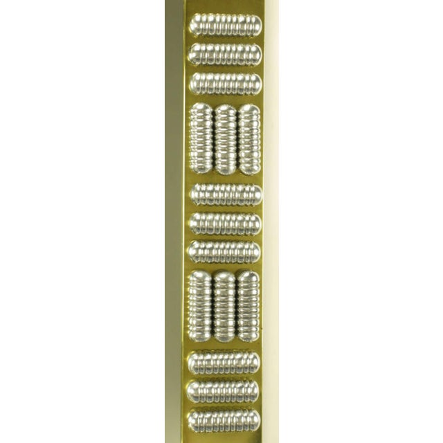 Brutalist Circa 1970s Brass & Spun Aluminum Custom Wall Mirror in the Manner of C.Jere For Sale - Image 3 of 7