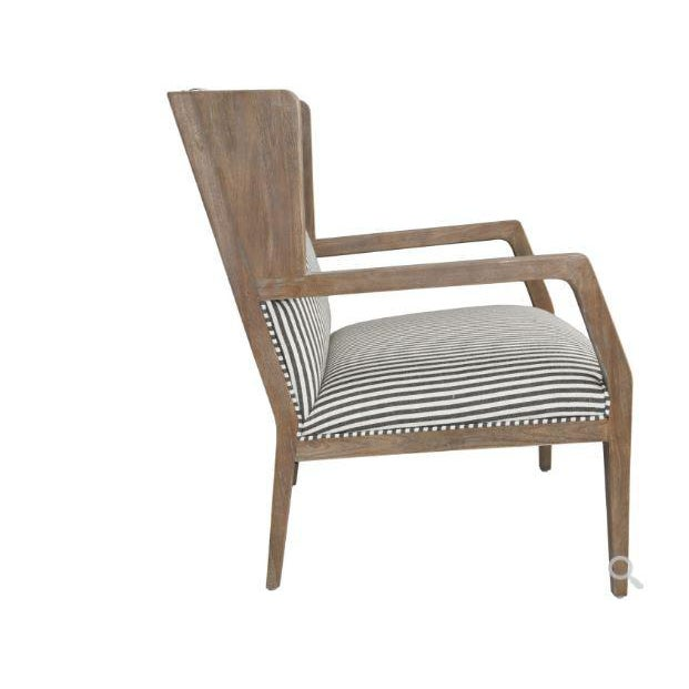 Kenneth Ludwig Chicago Kenneth Ludwig York Striped Occassional Chair For Sale - Image 4 of 8