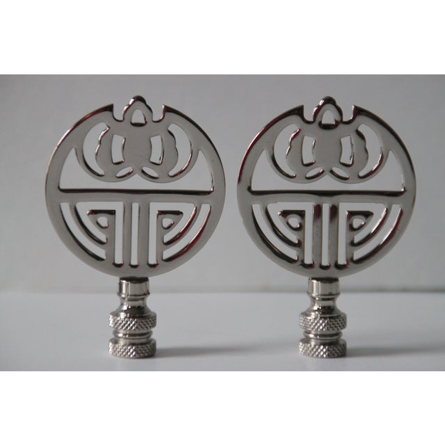 Chrome Art Deco-Style Finials - A Pair - Image 3 of 3