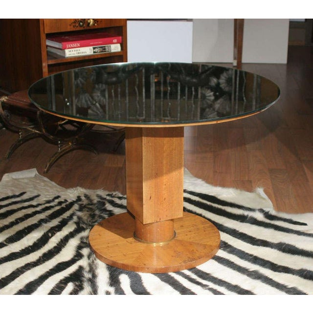 Metal Fine Art Deco Coffee Table by Jules Leleu For Sale - Image 7 of 7