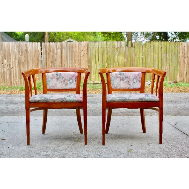 Mid Century Modern Italian Barrel Club Chairs - A Pair - Image 2 of 5