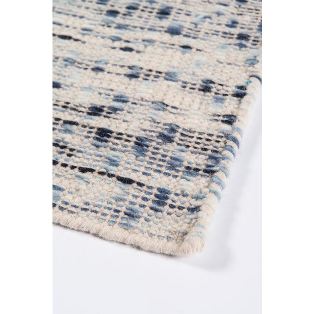 """Textile Erin Gates Dartmouth Bartlett Blue Hand Made Wool Area Rug 3'9"""" X 5'9"""" For Sale - Image 7 of 8"""