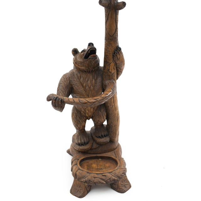 Rustic Black Forest Style '20th Century' Hatrack/Umbrella Stand For Sale In New York - Image 6 of 9