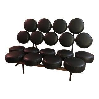 George Nelson Herman Miller Black Marshmallow Sofa For Sale